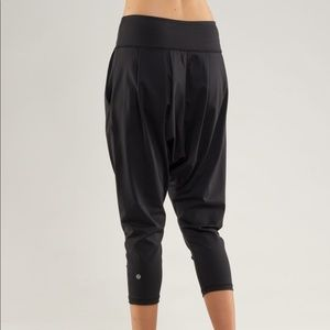 Lululemon charcoal grey harem pants.